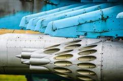 Vainas de Rocket en Mi-24 fotos de archivo libres de regalías