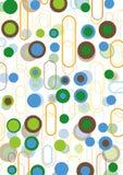 Vainas retras del marrón del verde azul Fotos de archivo libres de regalías