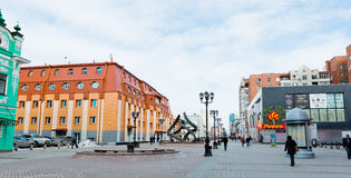 Vainera street in the centre of Yekaterinburg. Russia Stock Photography