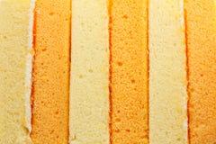 Vainilla y torta de gasa anaranjada Imagenes de archivo