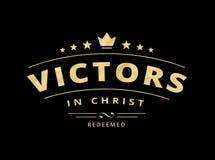 Vainqueurs en emblème du Christ Photographie stock