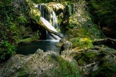 Vaioaga瀑布,罗马尼亚 库存图片