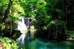 Vaioaga瀑布,罗马尼亚 免版税库存图片