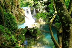 Vaioaga瀑布,罗马尼亚 库存照片