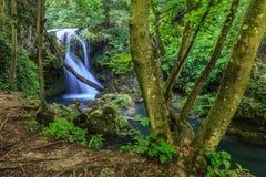 Vaioaga waterfall stock image