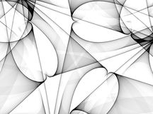 Vaious Black Lines Patterns Royalty Free Stock Photos