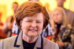 Vaira Vike Freiberga, tidigare president av Lettland arkivfoton