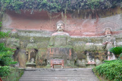 Vairocana Buddha in the cave, Leshan, China Stock Photos