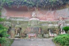 Vairocana Buddha in the cave, Leshan, China. Vairocana Buddha in the cave, Leshan Giant Buddha area, Le Shan City, Sichuan Province, China Stock Photos