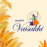 Happy Vaisakhi stock illustration