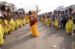 Vaishnavi worshiping Lord Jagannath. Royalty Free Stock Image