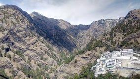 Vaishno devi. Beautiful view of vashino devi temple royalty free stock image