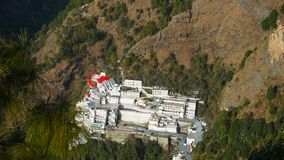 Vaishno Devi Mandir, Katra, Jammu and Kashmir. Maa Vaishno Devi Mandir is a Hindu temple dedicated to the Hindu Goddess, Mandir located in Katra. Jammu and stock images
