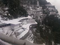 Vaishno Devi. Temple on Ice stock images