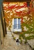 Vaison la Romaine balcony in fall. Vaison la Romaine, France, balcony in fall Stock Photos