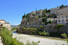 Vaison la Romaine. Beautiful Medieval Village of Vaison la Romaine, Provence, France Stock Image