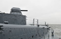 vaisseau de guerre moderne Image libre de droits