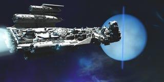 Vaisseau spatial à Neptune illustration libre de droits