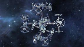 Vaisseau spatial étranger dans le voyage interstellaire illustration de vecteur