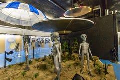 Vaisseau spatial étranger en Roswell New Mexico photographie stock libre de droits