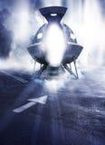 vaisseau spatial Images libres de droits