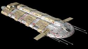 Vaisseau spatial illustration de vecteur