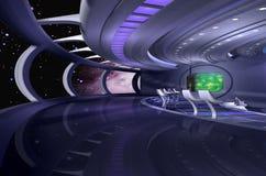 vaisseau spatial 3d Photo libre de droits