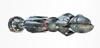 Vaisseau spatial avec la commande de chaîne illustration de vecteur