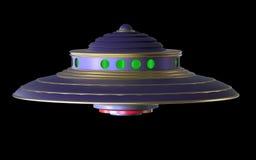 vaisseau spatial d'Extraterrestrial d'UFO d'isolement par 3D Photos libres de droits