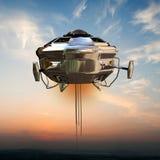 Vaisseau spatial d'UFO Images libres de droits