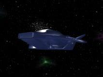 Vaisseau spatial dans l'espace Photo libre de droits