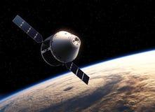 Vaisseau spatial dans l'espace Photographie stock libre de droits