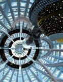 Vaisseau spatial dans l'habitat creux Illustration de Vecteur