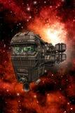 Vaisseau spatial de croiseur de l'espace avec le pont Image stock