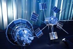 Vaisseau spatial de deux Soviétiques, pour étudier l'orbite terrestre Photographie stock