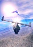 vaisseau spatial de duel illustration de vecteur