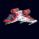 Vaisseau spatial de Sci fi en univers illustration stock