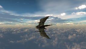 Vaisseau spatial en atmosphère terrestre Illustration Libre de Droits