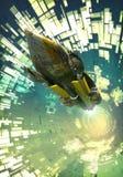 Vaisseau spatial et tunnel Images libres de droits