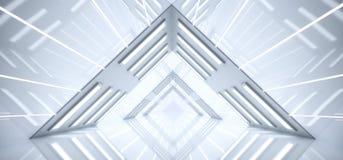 Vaisseau spatial moderne futuriste Brig intérieur formé par triangle de Sci fi illustration stock