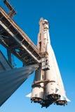 Vaisseau spatial sur une plateforme de lancement Photographie stock libre de droits