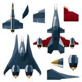 Vaisseau spatial, vaisseau spatial et éléments de construction Photographie stock