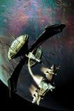 Vaisseaux spatiaux et planète Photos libres de droits