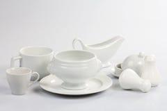 Vaisselle blanche Photos libres de droits