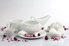 Vaisselle blanche Photo stock