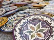 Vaisselle colorée du Maroc Photos stock