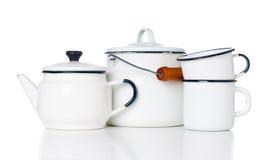 Vaisselle de cuisine à la maison de vintage Photographie stock