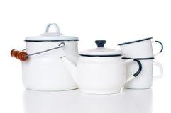 Vaisselle de cuisine à la maison de vintage Image libre de droits