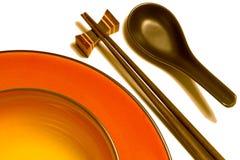 Vaisselle de cuisine asiatique D Photos stock