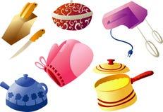Vaisselle de cuisine Cliparts Images stock
